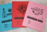 Pakket van 3 Engelse brocante schriften_