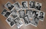 Brocante zwart wit foto's oude filmsterren, diverse_