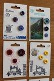 Brocante kaartje met oude knopen (div. keuzes)_