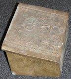 Antieke turfkist van koper_
