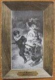 Oude ansichtkaart kindjes met hond en kar_