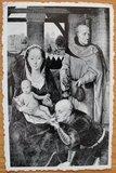 Oude ansichtkaart Maria met kind en mannen_