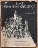 Oud brocante muziekboek Hoch Heidecksburg!_