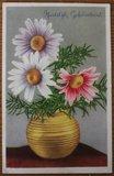 Oude ansichtkaart bloemen Hartelijk Gefeliciteerd 1_
