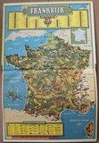 Vintage DE verzamelplaatjes album Frankrijk, Piet Bakker 1958_