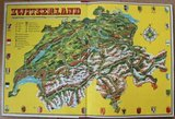 Vintage DE verzamelplaatjes album Zwitserland, Piet Bakker 1956_