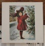 Set v 3 vintage kerstmis decoratieknijpers in rood_
