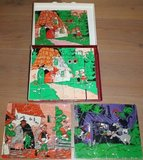 Grote oude blokkenpuzzel sprookjes Roodkapje_
