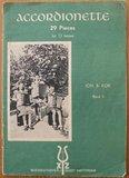 Oud brocante muziekboek Accordionette 29 pieces_