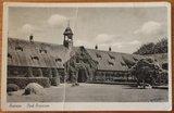 Oude brocante zwart wit foto ansichtkaart Huizen_