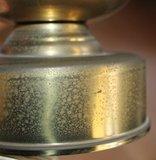Oude brocante koperen staande lampenvoet_