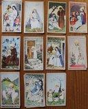 Oud Frans brocante religieus decoratief prentje kaartje I_