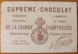 Oud Frans brocante reclamekaartje Suprême Chocolat_