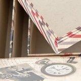 Brocante kartonnen opbergdoos foto's & post, klein_