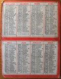 Oude Franse brocante minikalender 1919 apotheek_