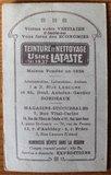 Oude Franse brocante minikalender 1922 reclame_