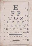Brocante schoolplaat wandkaart letters oogarts 55x2x75 cm_