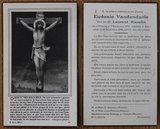 Oud brocante bidprentje Jezus aan het kruis 1946_