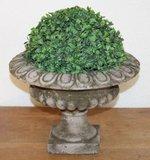 Brocante bloempot, betonnen tuinvaas, groot laag model_