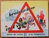Oud brocante schoolboekje Bruintje Beer in 't verkeer dl 1_