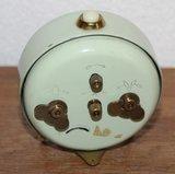 Oude vintage brocante lichtgroene wekkertje Junghans bivox_