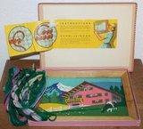 Vintage retro brocante speelgoed borduurset geraamd stramien_