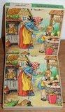 Vintage brocante houten sprookjes puzzel Hans & Grietje_