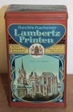 Oud brocante koekblikje Aechte Aachener Lambertz Printen_
