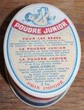 Oud brocante doosje talk babypoeder Poudre Junior_