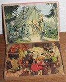 Vintage brocante houten puzzel De Bremer stadsmuzikanten_
