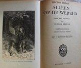 Antiek vintage brocante kinderboek Alleen op de wereld, jr '20_