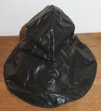 Vintage brocante zwarte regenhoedje, zuidwester_