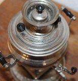 Kleine decoratieve zilverkleurige vintage brocante kraantjeskan_