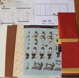 Hobbypakket La Couture voor 5 luxe metallic kaarten vintage mode_