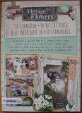 A4 Stansblok 3D Vintage Flowers foto's en bloemen 12 kaarten_