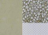 Basispapier achtergrondvel Kerstmis groene ijs sneeuwvlokken_