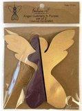 Kerstengeltjes paarse gouden honeycombs 3D Imbarro Angel Gabriela S purple set 1