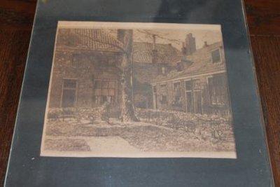 Oude ets, Haarlems hofje, J. Josseau