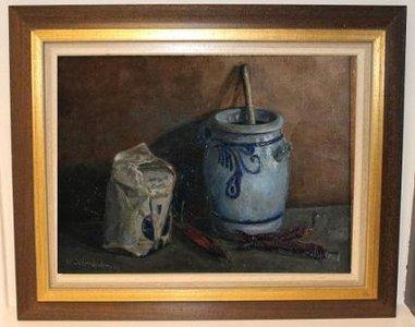 Oud stilleven Keulse pot, B.J. Scheinders, 1944