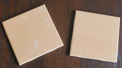 Oude retro tegel, beige/oranje, Vitroceramica