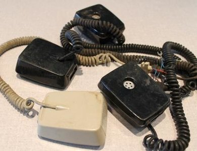 Oude meeluisterhoorn telefoon PTT