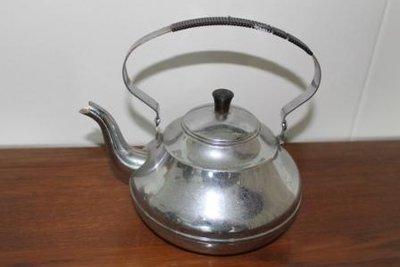 Oude vintage brocante zilverkleurige theeketel, G. Bredemeijer