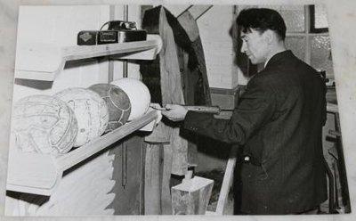 Oude zwart wit foto's sport thema jaren '60, div.