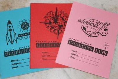 Pakket van 3 Engelse brocante schriften