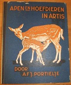 Verkade verzamelplaatjes album Apen en hoefdieren in Artis 1940