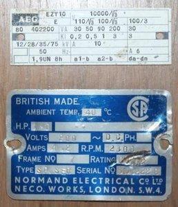 Oude vintage brocante industriële tekstplaatjes, div. soorten