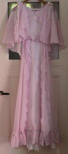 Oude brocante pastel lila jurk, trouwjurk