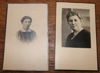Oud bidprentje foto van een dame, div. soorten