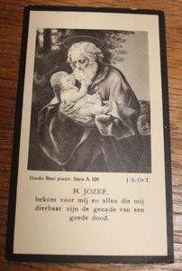 Oud bidprentje Jozef met kind