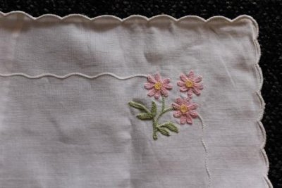 Brocante kussensloopje ledikant roze bloemen